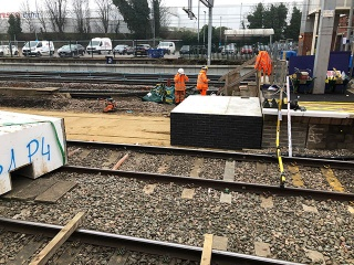 Station Platform Extended with Modular EPS System